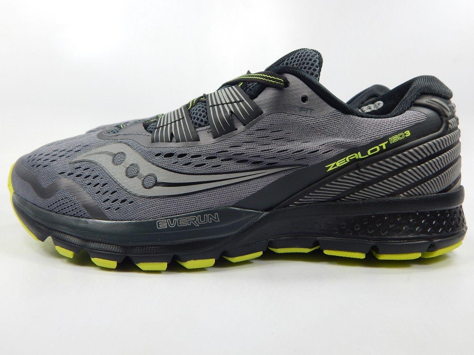 Saucony Zealot ISO 3 Men's Running Shoes Size US 9 M (D) EU 42.5 Grey S20399-1