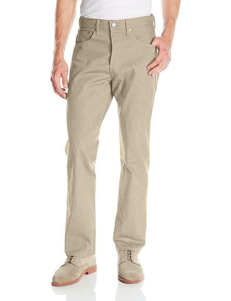 Levi's Strauss 501 Men's Shrink To Fit Straight Leg Jeans Button Fly 501-2082