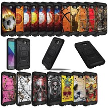 For J7 Sky Pro / J7 Perx / J7V- Shock Combat Dual Layer Kickstand Case R... - $4.94+