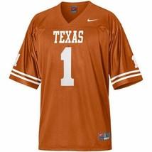 New Nike Texas Longhorns Youth Large Lg L Jersey #1 Burnt Orange Nwt - $28.00