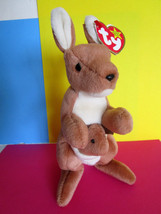 "TY ""POUCH"" Kangaroo & Baby 1996 BEANIE BABIES PLUSH stuffed TOY - $7.99"