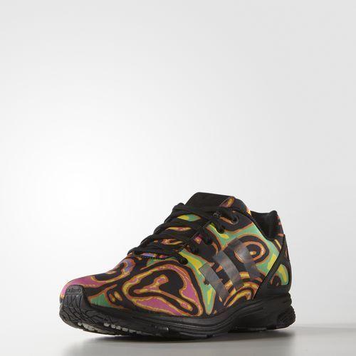 Adidas Originals Jeremy Scott Mens ZX Flux Tech Psychedelic Sneakers S77841