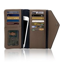 Otto Angelino Genuine Leather Envelope Wallet with Phone Compatible Slots - RFID image 3