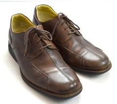 JOHNSTON MURPHY Brown Leather Oxford Business Casual Dress Shoes Sneaker... - $22.76