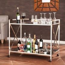 Bar Cart Home Furniture Glasses Drinks Modern Style Design Luxury Qualit... - $476.94