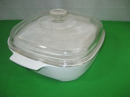 Corning Ware 2 Qt Microwave Browning Baking Dish MW-A-10 Glass Dome Lid - $14.01