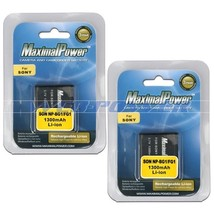 2x Camera Battery For Sony NP-BG1 NP-FG1 NPBG1 Cyber Shot DSC-W200 Battery x2 - $16.50