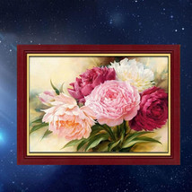 Peony Flower DIY Diamond Painting Pictures Craft Home Living Room Wall D... - $28.99