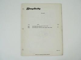 Simplicity Sno Away 4/6HP 221 296 297 294 295 253 254 255 256 Owners Manual - $25.00