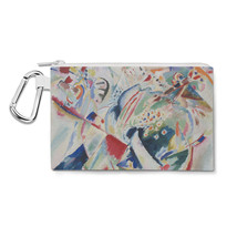 Kandinsky Abstract Art Painting Canvas Zip Pouch - $15.99+