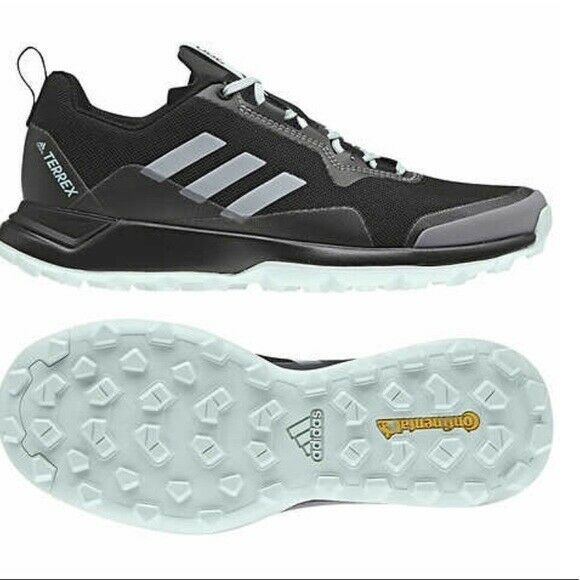 Adidas Terrex Womens Outdoor Walking Shoe Plein Air Black Chalk White Green NIB