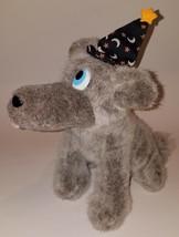 Howl-O-Ween Cosmic Wolf Plush Gray Stuffed Animal Fiesta Toy Halloween Hat - $29.65