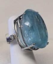 New Huge Custom VS 85.3 ct Blue Aquamarine, Diamond, Tanzanite 14k gold ... - $9,999.99