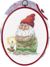 Elf With Towel Christmas Ornament kit counted cross stitch Permin Copenh... - $45.00