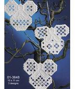 Christmas Angels Hardanger 3pc Ornament kit Permin Copenhagen - $15.30
