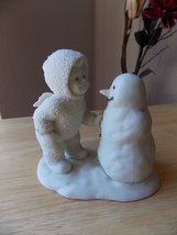 "Dept. 56 Snowbabies Retired ""Snowman Why Don't You Talk To Me"" Figurine  - $28.00"