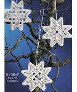 Christmas Star Hardanger 3pc Ornament kit Permin Copenhagen - $15.30