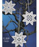 Christmas Star II Hardanger 3pc Ornament kit Permin Copenhagen - $15.30