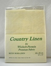 Wichelt-Permin Antique White 16 Ct Betsy Ross Country Linen Cross Stitch... - $17.05