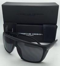 New PORSCHE DESIGN Sunglasses P'8597 E 69-07 125 Matte Black Frame w/Grey Lenses