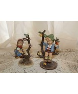 Goebel Hummel # 141 & 142 APPLE TREE BOY AND GIRL Full Bee 1940 TMK 2 Ra... - $247.50