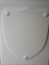 "Medieval Shield Mold 24x30x3"" Makes Concrete or Plaster Hanging Wall Plaques  image 5"