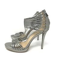 Michael Kors Leann Sparkly Metallic Embossed Leather High Heel Party Sandal 9.5M - $79.07