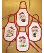 Santa Wine Aprons kit counted cross stitch kit Permin of Copenhagen - $40.50