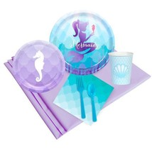 Mermaid Birthday Party Tableware Set; Under the Sea theme; Mermaid baby ... - ₨2,396.31 INR