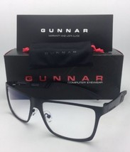 New GUNNAR Computer Glasses VINYL 57-15 135 Onyx Black Frames Crystal Cl... - $99.95