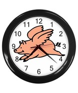 When Pigs Fly Office Bar Restaurant Kitchen Wall Clock - $22.49