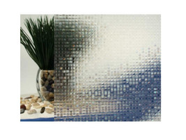 "Clear Mini Mosaic Cut Glass Static Cling Window Film, 35"" Wide x 9 ft - $84.10"