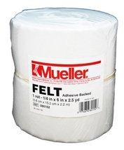 "Mueller Orthopedic Felt - Adhesive backed - 1/4"" x 6"" x 2.5 yd roll - $69.49"