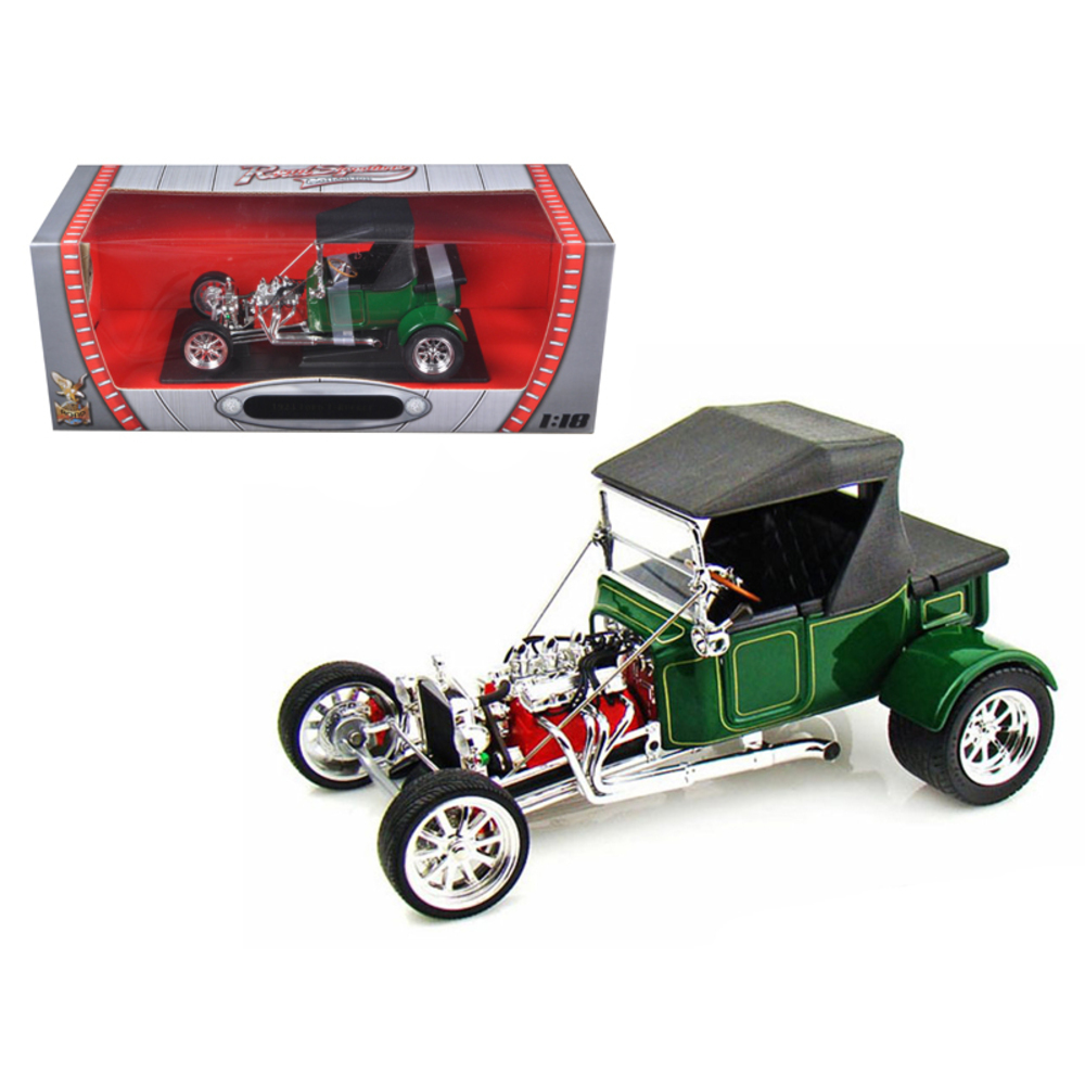 1923 Ford T-Bucket Soft Top Green 1/18 Diecast Model Car by Road Signature 92829