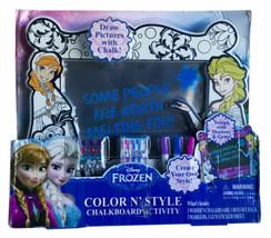 Disney Frozen Color N' Style Chalkboard Activity Playset 2015 Tara Toys ... - $14.01