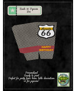 Route 66 Printable, Personalized Popcorn Box - $5.00