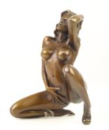 Antique Home Decor Bronze Sculpture Erotic Bronze Femme Fatale Free Air ... - $299.00