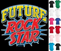 Future Rock Star Funny Kids T shirt Youth tee Baby Toddler bodysuit KP323 - $12.99