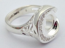 Authentic Kameleon Side Scoop CZ 925 Silver Ring Ring Kr-37 Kr037 Size 7... - $43.22