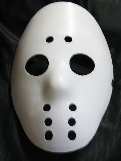 WHITE HOCKEY STYLE PLASTIC FACE MASK Bonanza