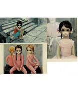 Lot of 3 Post Cards by Walter Keane Dated 1964 Big Eyed Children Balleri... - $12.86
