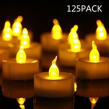 Tea Light Flameless LED Tea Lights Candles 125 Pack,$0.239/Count, Flicke... - $24.02