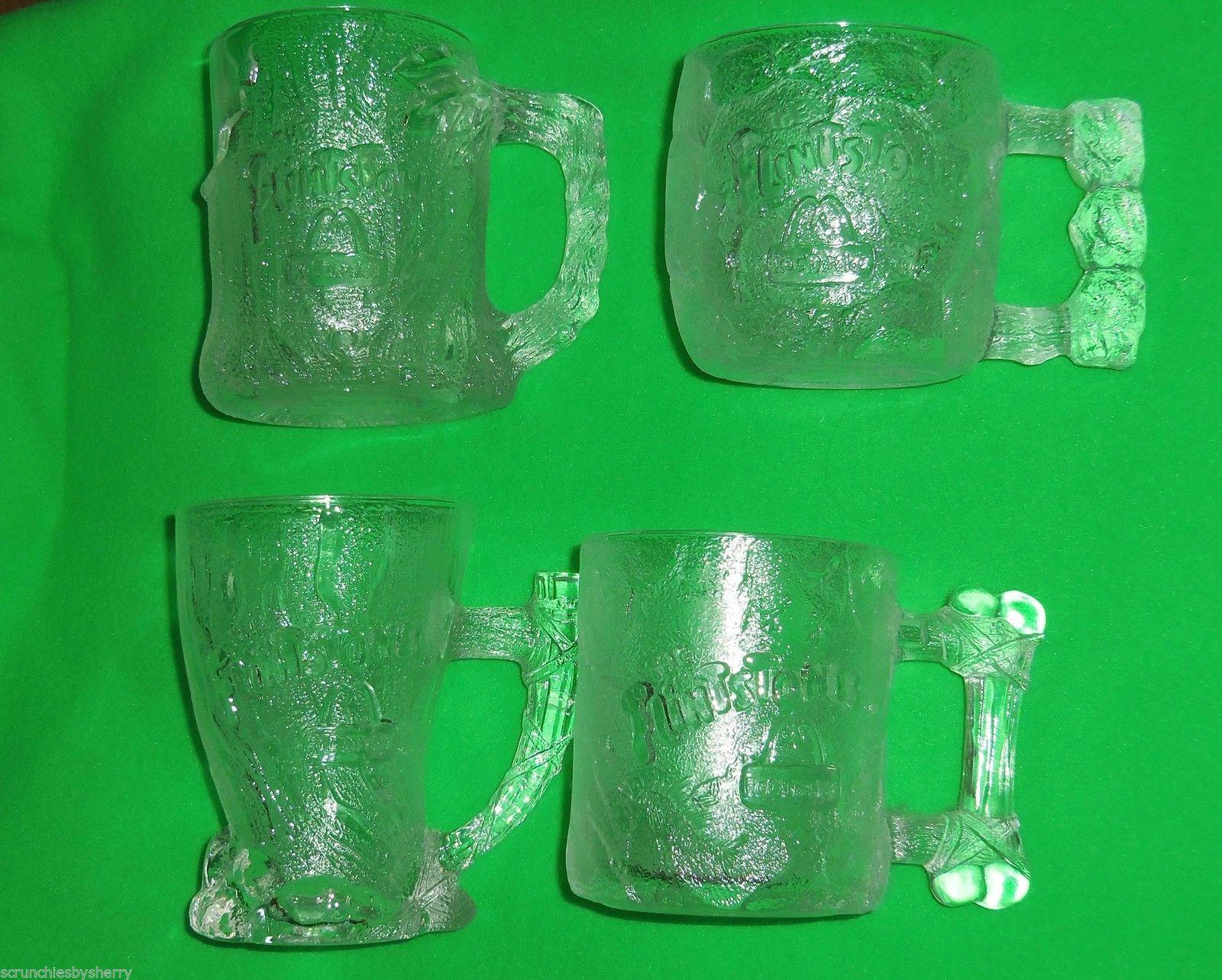set of 4 vintage 1993 riddler mcdonalds happy meal glasses