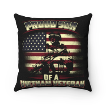 Proud Son of Vietnam Veteran - Spun Polyester Square Pillow - $23.62+