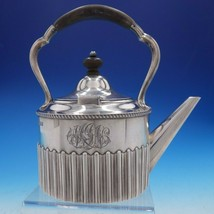 Victorian English Silver Tea Kettle with Wood Handle and Finial (#4269) - $899.00