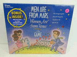 New Sealed Mattel Men Are From Mars Women Are From Venus Adult Board Game, 1998 - $13.99