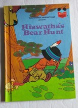 Walt Disney Productions Presents Hiawatha's Bear Hunt Hardcover Book 1982 - $8.59