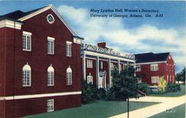 University of Georgia Athens Mary Lyndon Hall Women's Dormitory GA Postcard - $2.99