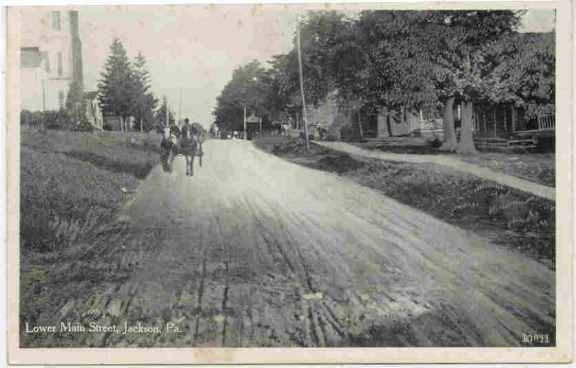 Main Street Jackson Pennsylvania circa 1900 Post Card