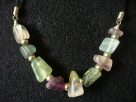 Large Chip Florite Beaded Necklace - $12.00